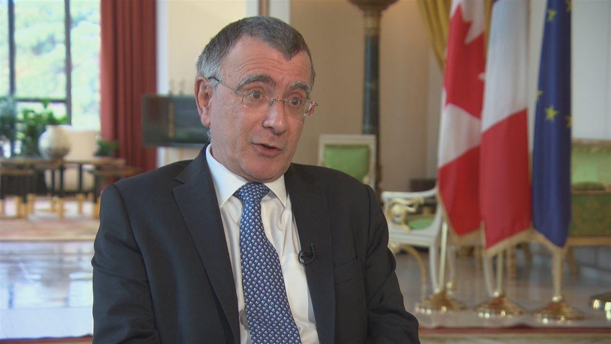 L'ambassadeur français au Canada Nicolas Chapuis