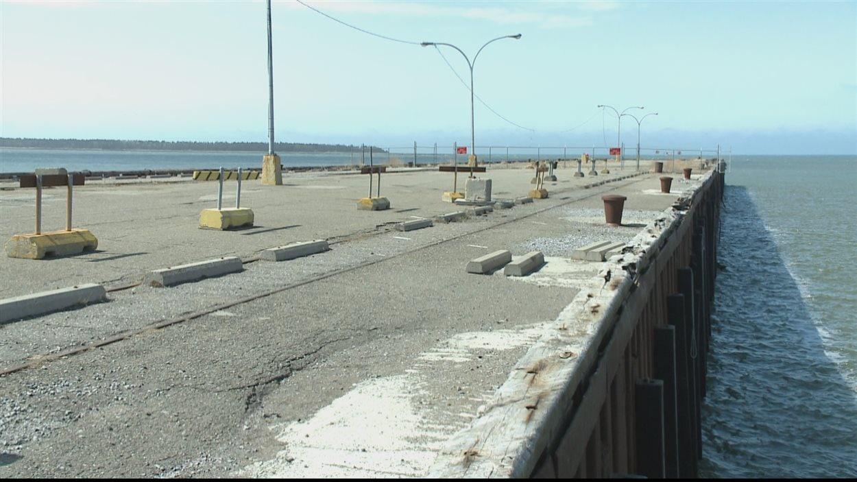 La jetée ouest du Port de Rimouski est en mauvais état (archives).