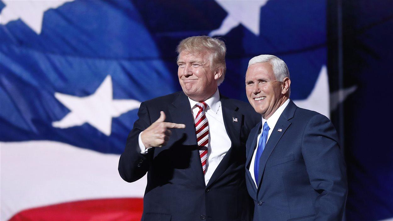 Donald Trump et Mike Pence pendant la campagne