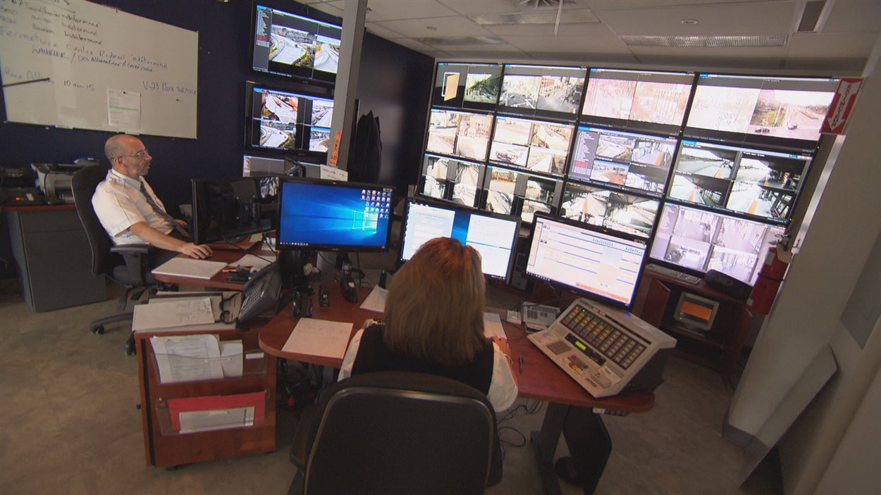 Le centre de contrôle de la STO