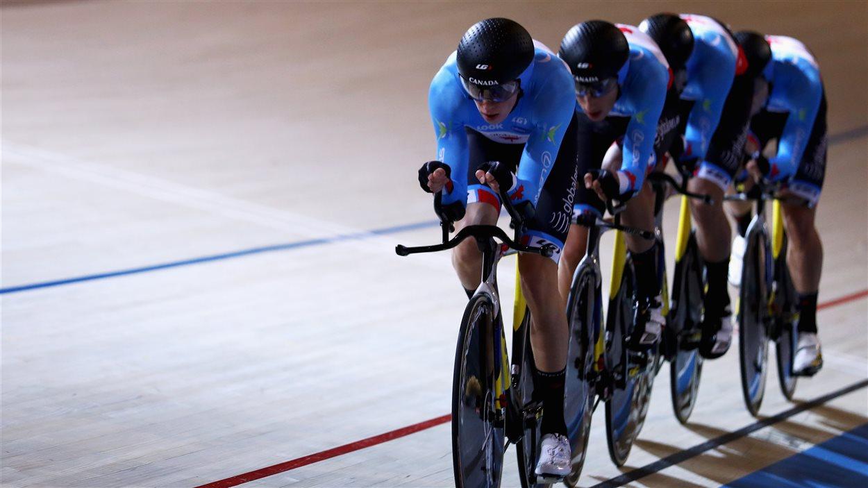 La formation canadienne de cyclisme, Adam Jamieson, Aidan Caves, Jay Lamoureux et Bayley Simpson