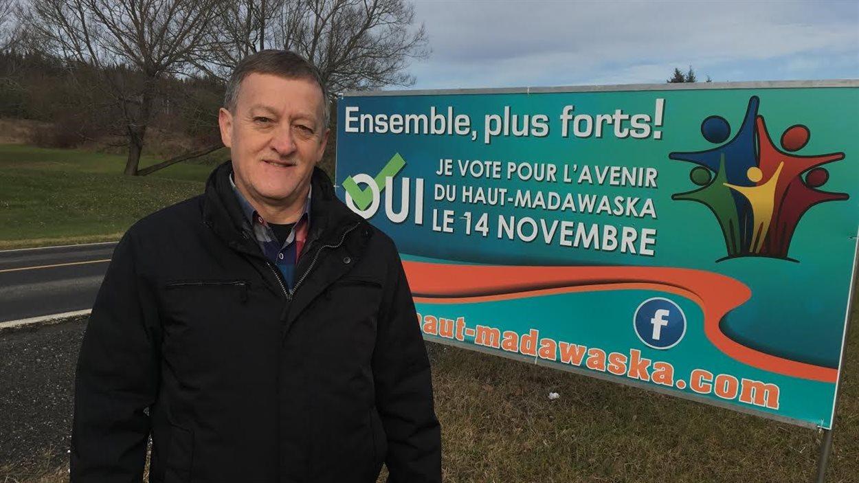 Réginald Nadeau, président de la campagne pour le regroupement municipal du Haut-Madawaska