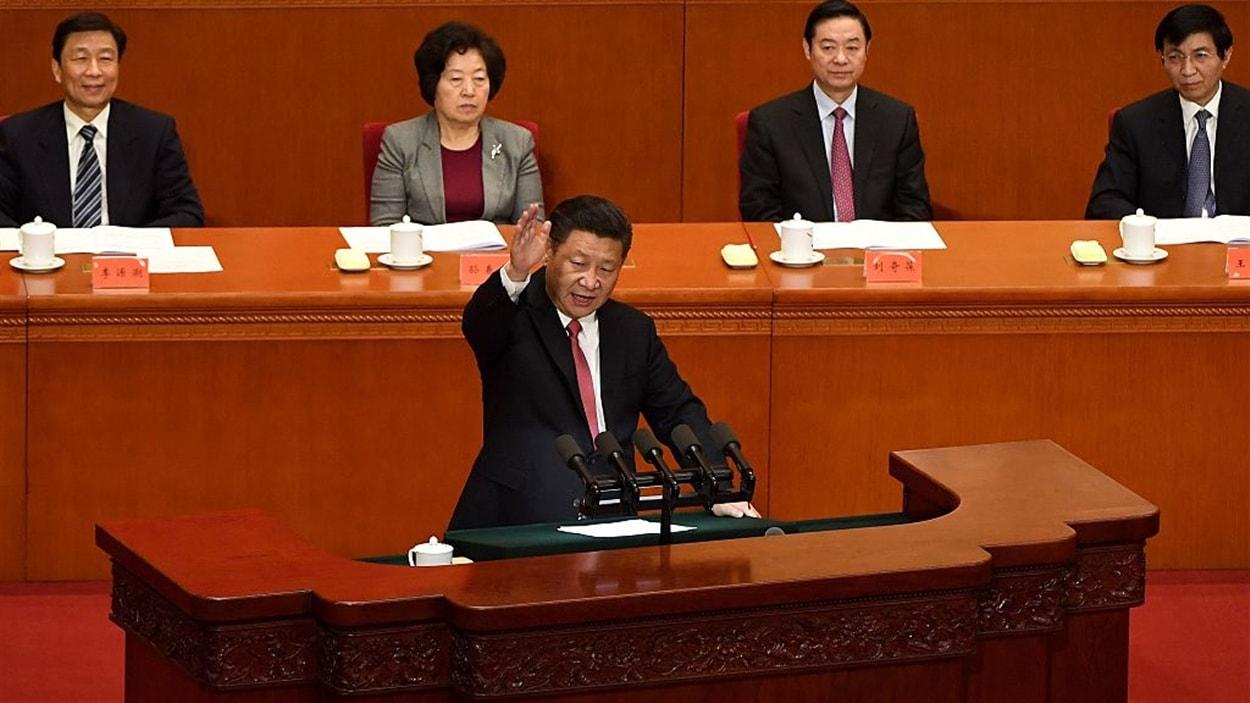 Le président chinois, Xi Jinping, lors d'un discours à Pékin, le 11 novembre 2016