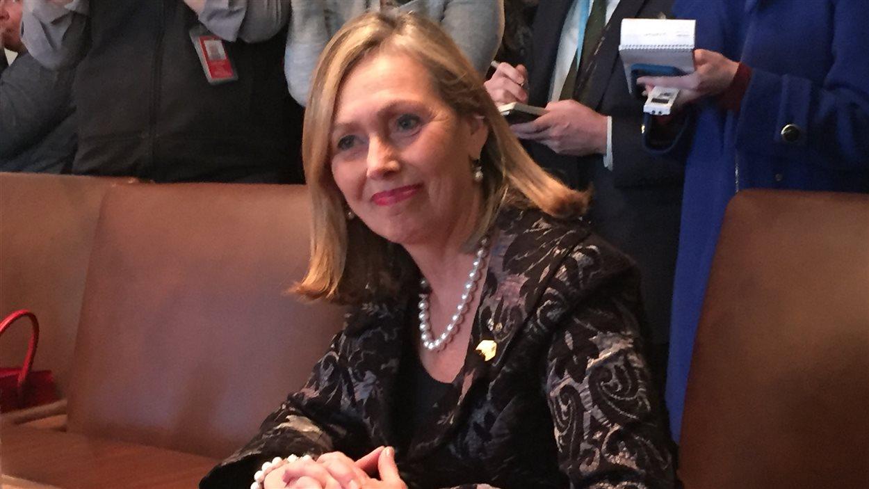 Monique Leroux faisait partie des invitées à la table ronde sur les femmes entrepreneures le 13 février 2017 à Washington.