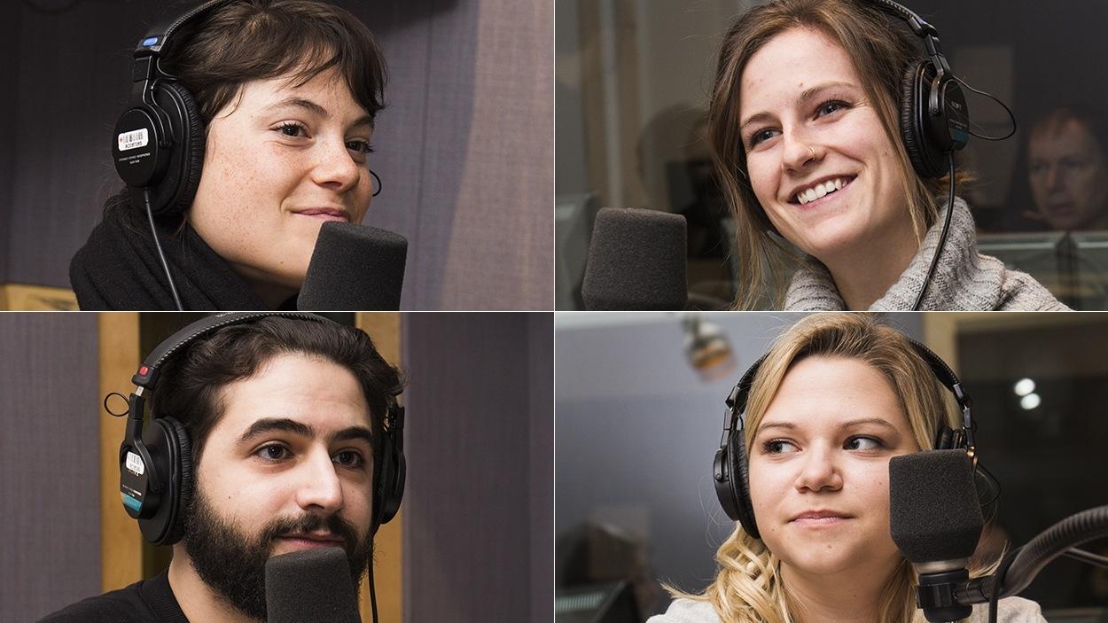Julianne Côté, Camille Rouleau, Rabii Rammal et Vanessa De Montigny