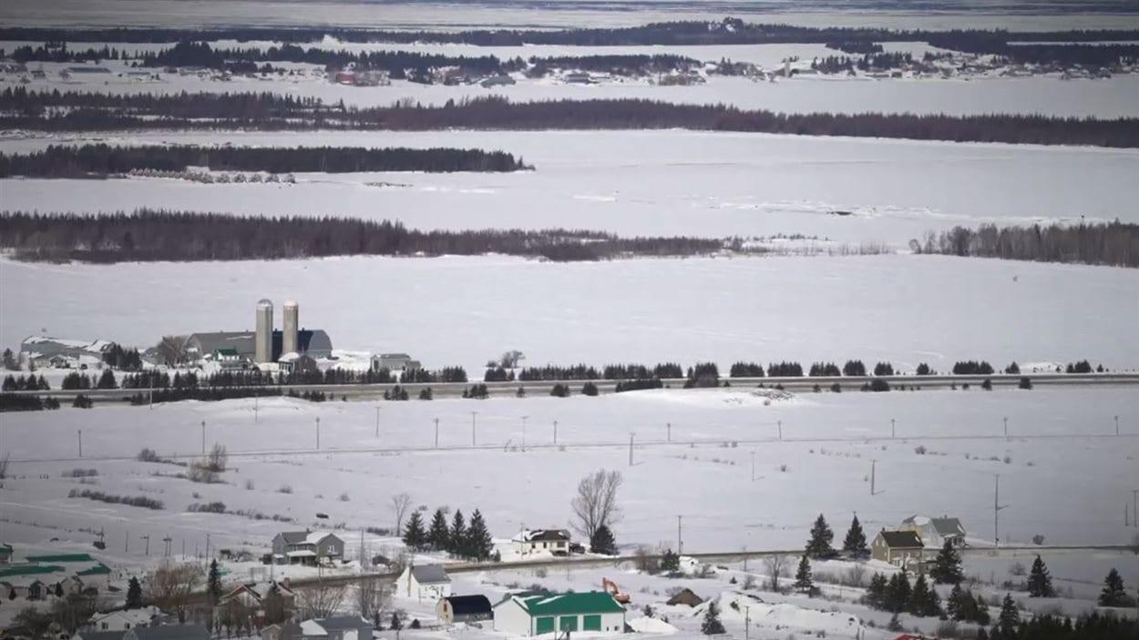 Terres agricoles dans la région de Kamouraska, au Québec.
