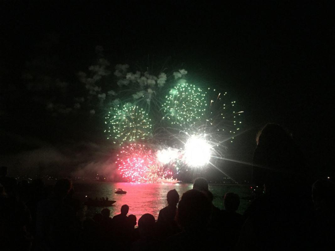 Des feux d'artifice.
