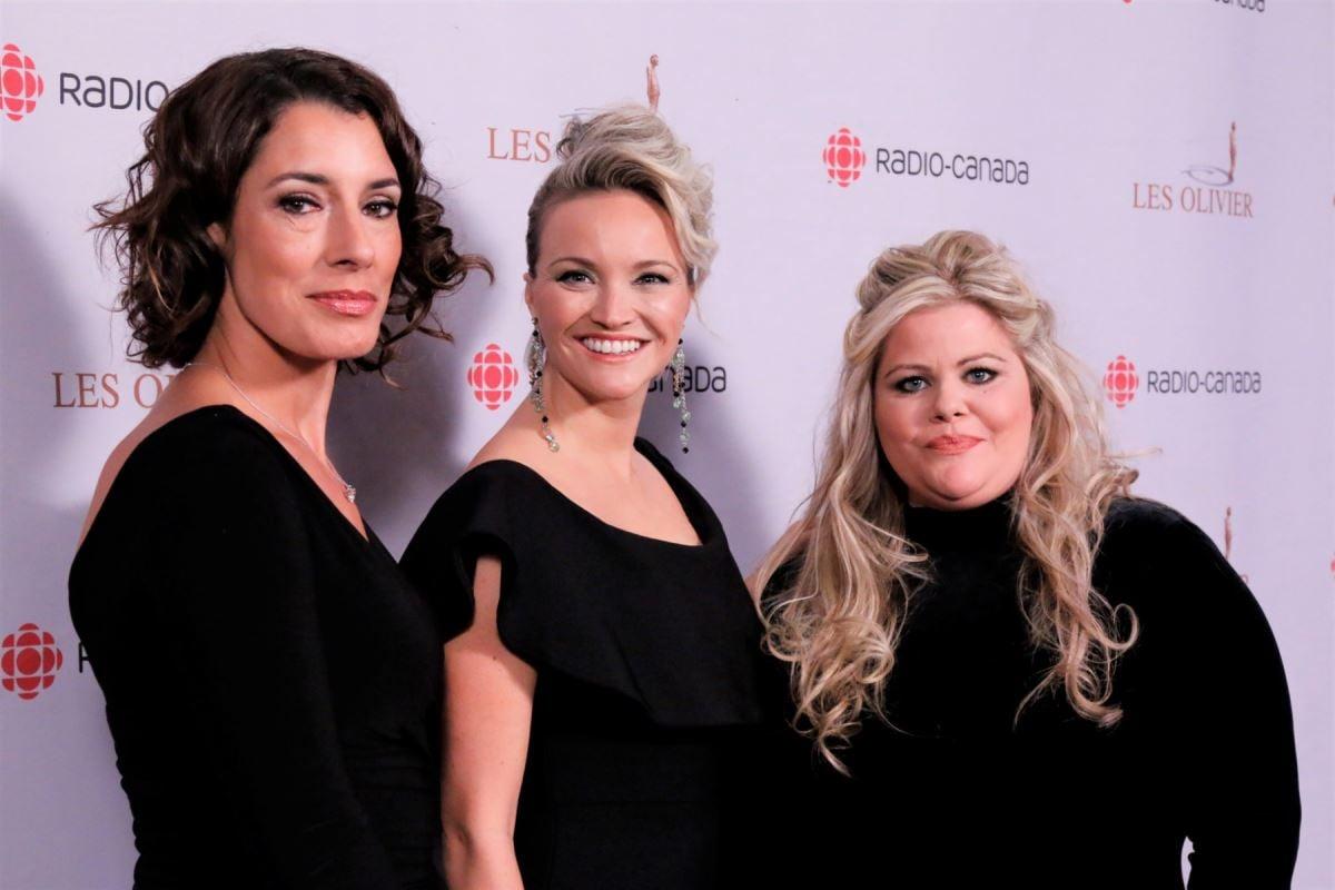 Les comédiennes de l'émission Les magnifiques : Marie-Hélène Thibault, Julie Ringuette et Geneviève Schmidt