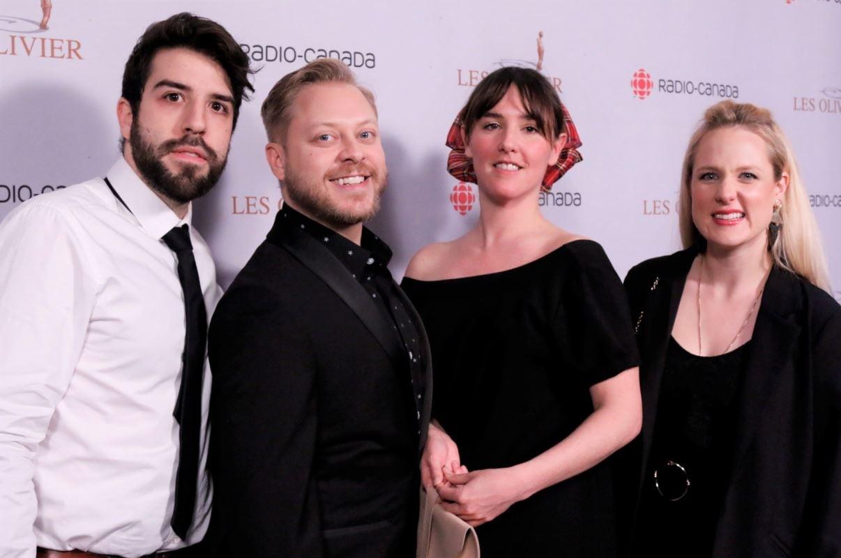 Les comédiens de Like-Moi! : Yannick De Martino, Guillaume Lambert, Florence Longpré et Marie-Soleil Dion