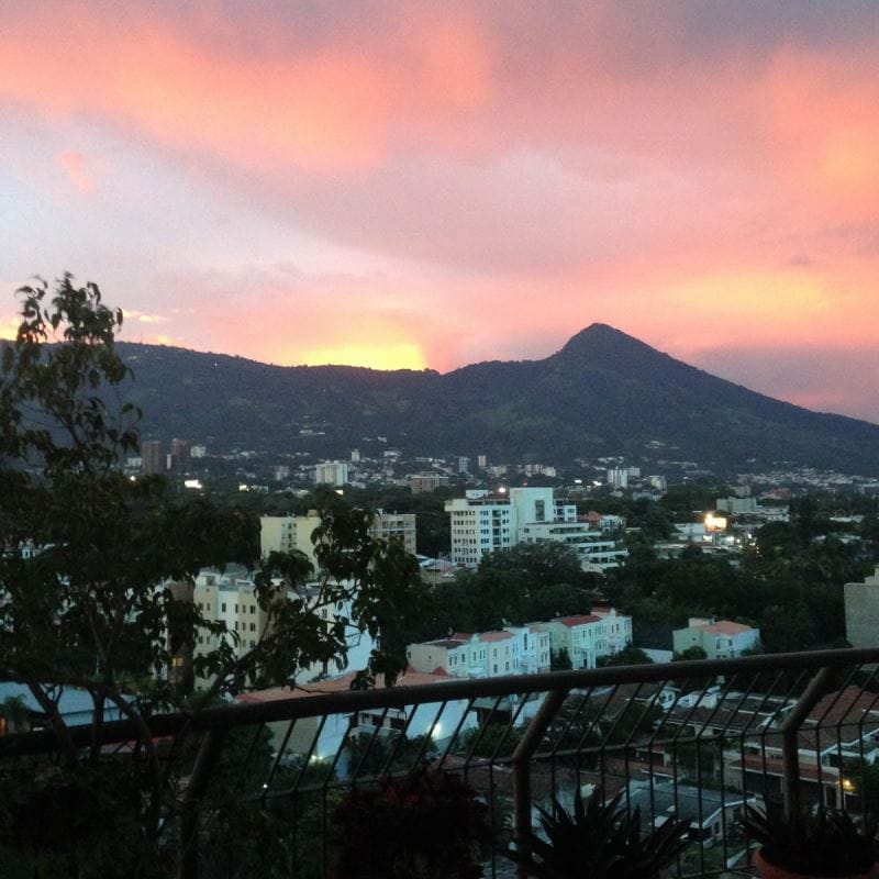 La vue depuis leur logement au Salvador.