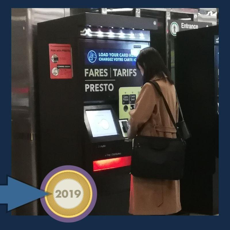 Une machine de carte Presto
