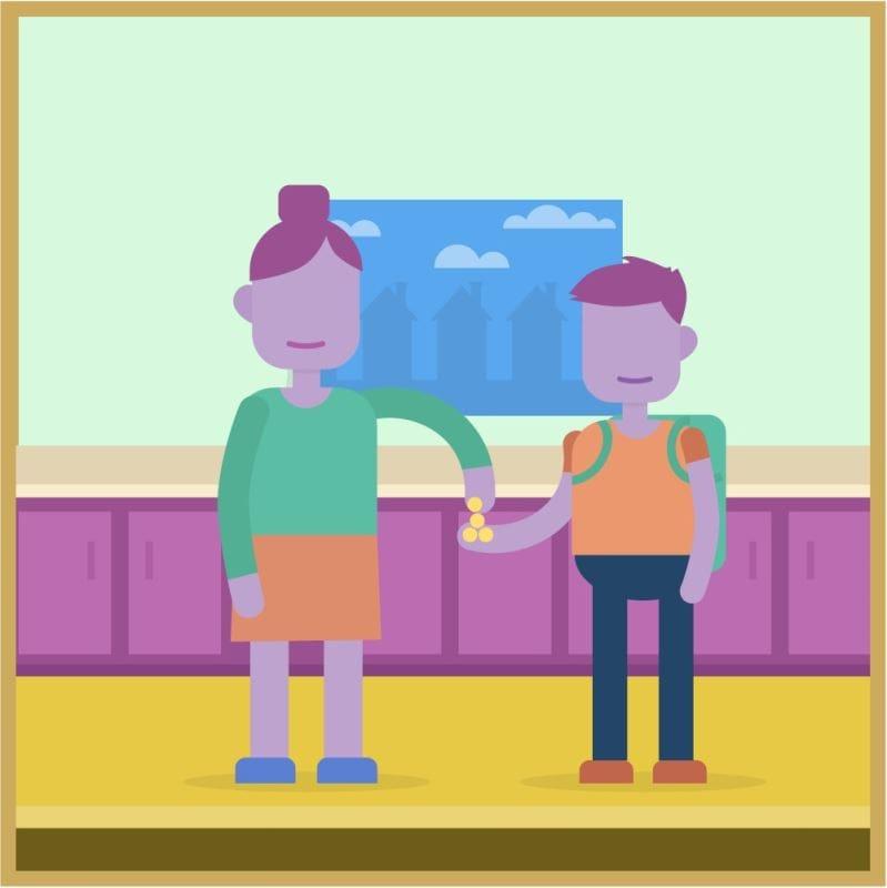 Une illustration d'un homme et d'une femme