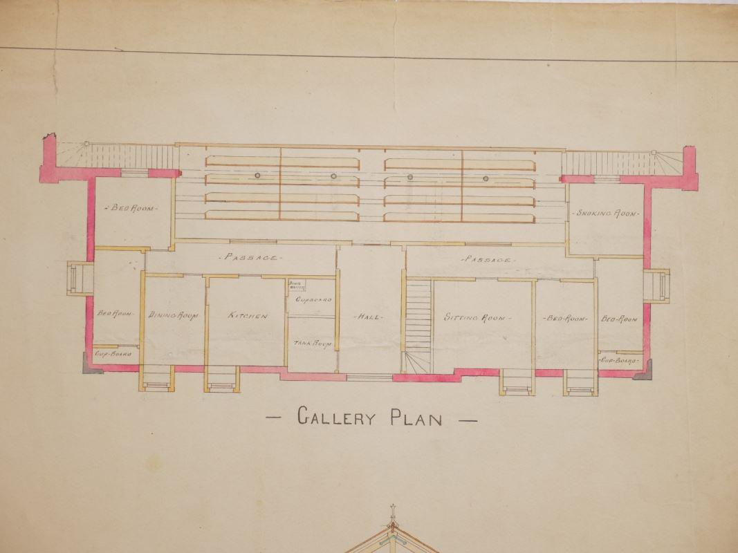 Plan des pièces de la galerie
