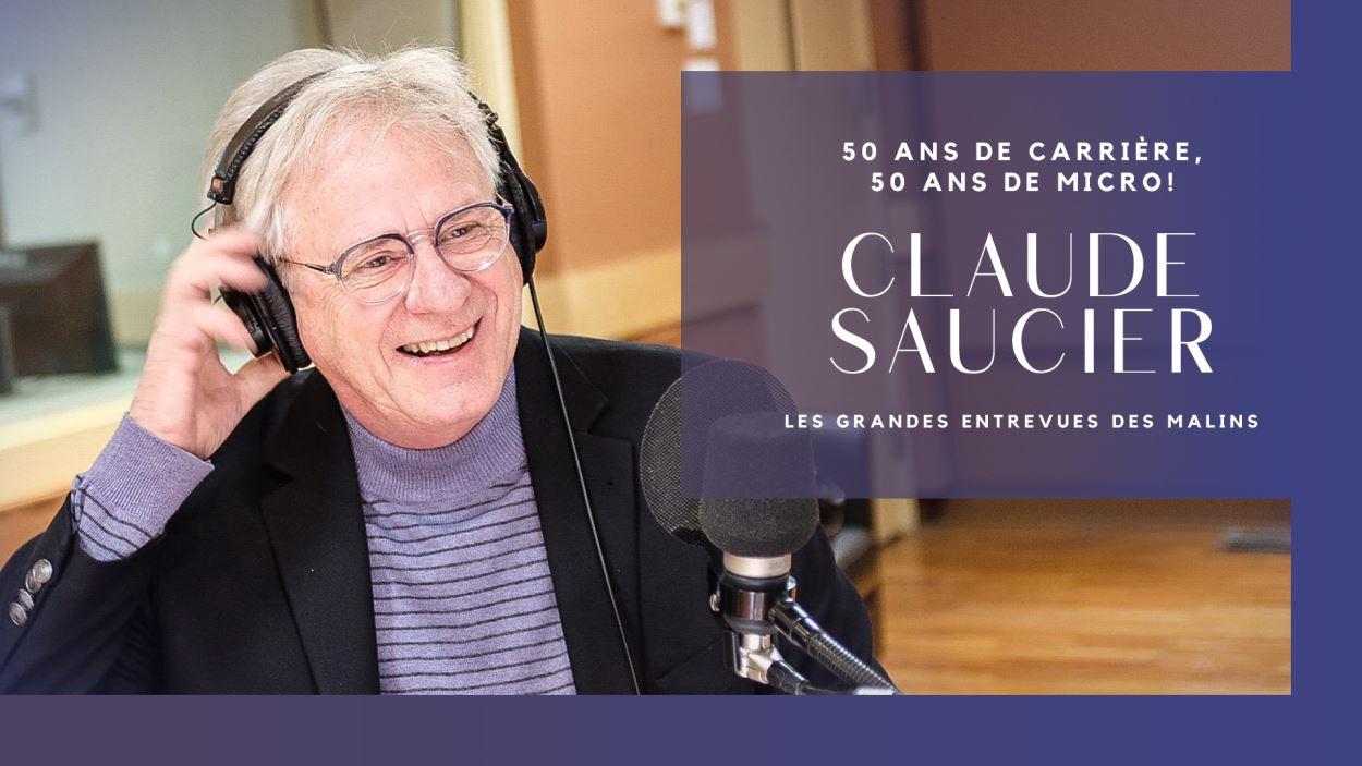 Claude Saucier est sans contredit l'un des animateurs les plus prolifiques du Québec. Cette année, il célèbre ses 50 ans de carrière. Voici un aperçu de son parcours, en quelques photos.