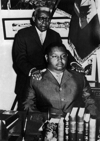 Jean-Claude Duvalier et son père François à la fin des années 60.