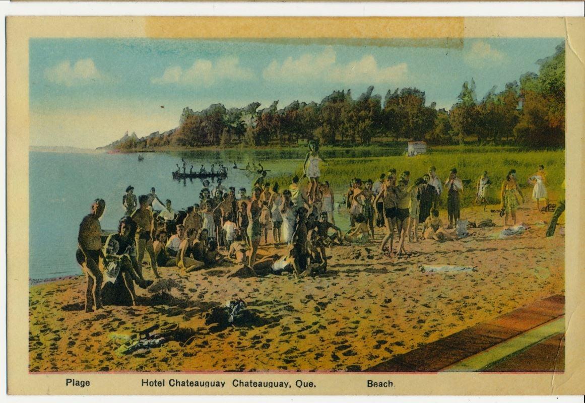 Représentation de la plage de Châteauguay en 1940