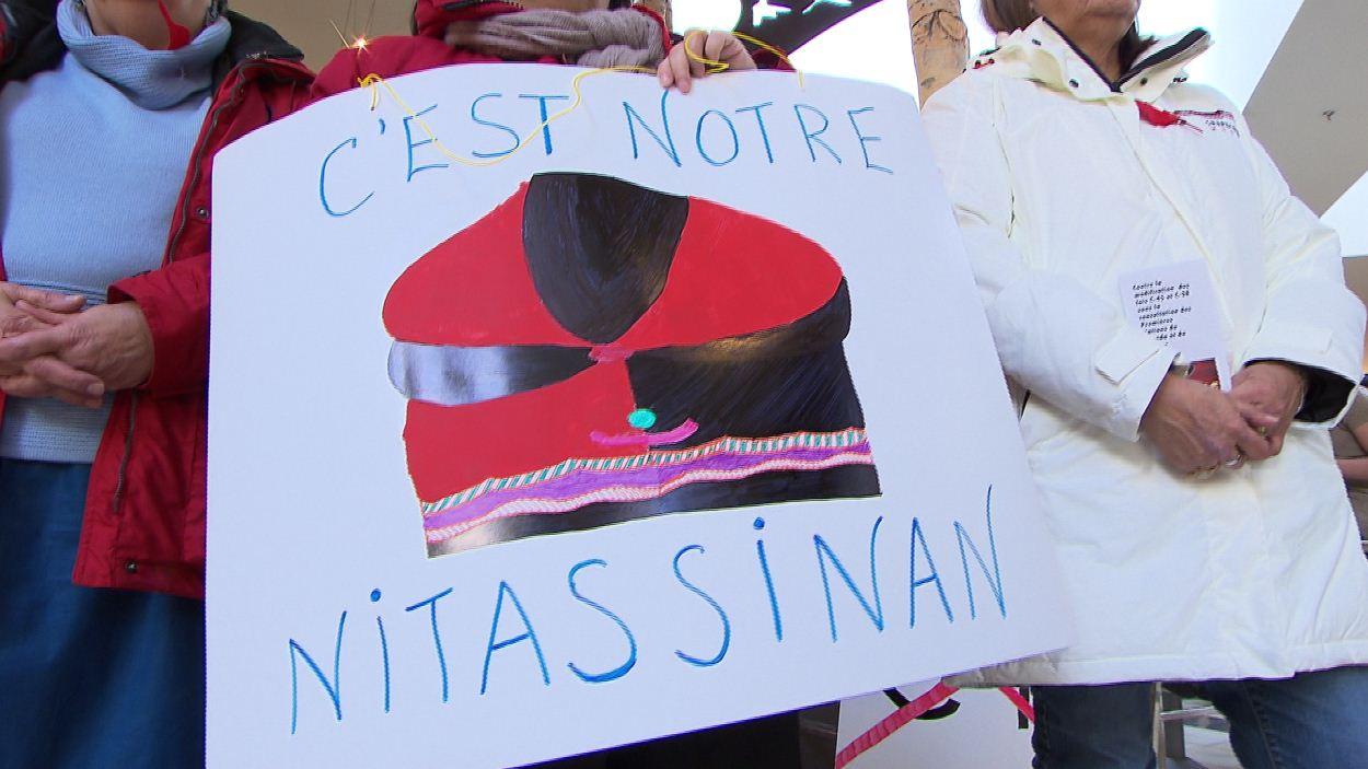 Pancarte d'une manifestante