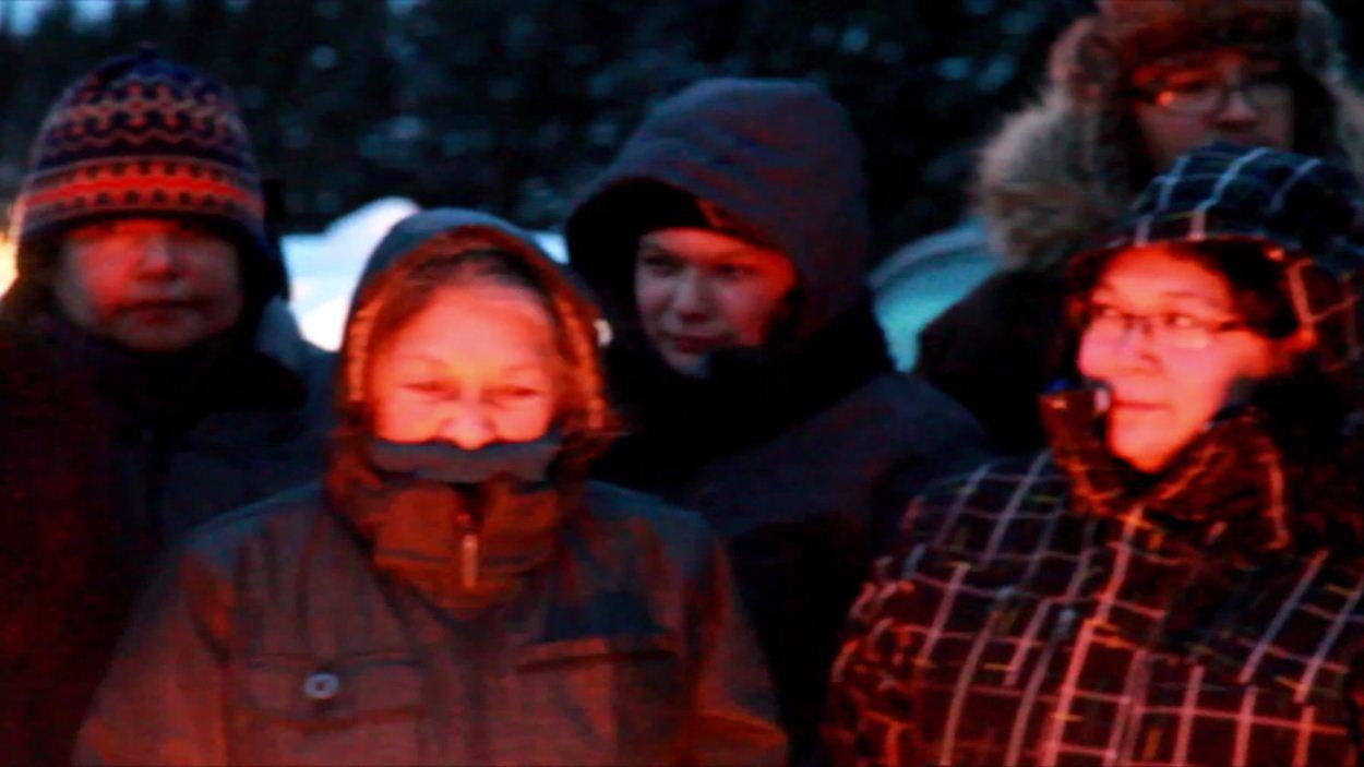 Des manifestants à Pessamit