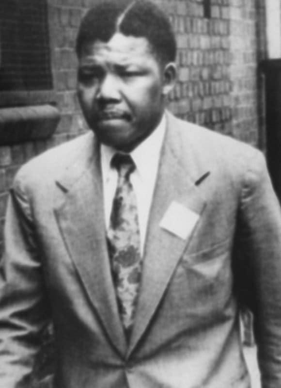 Nelson Mandela en 1961.