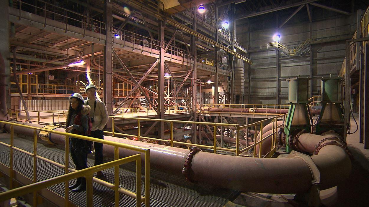 Visite des installations de Minerai de fer Québec