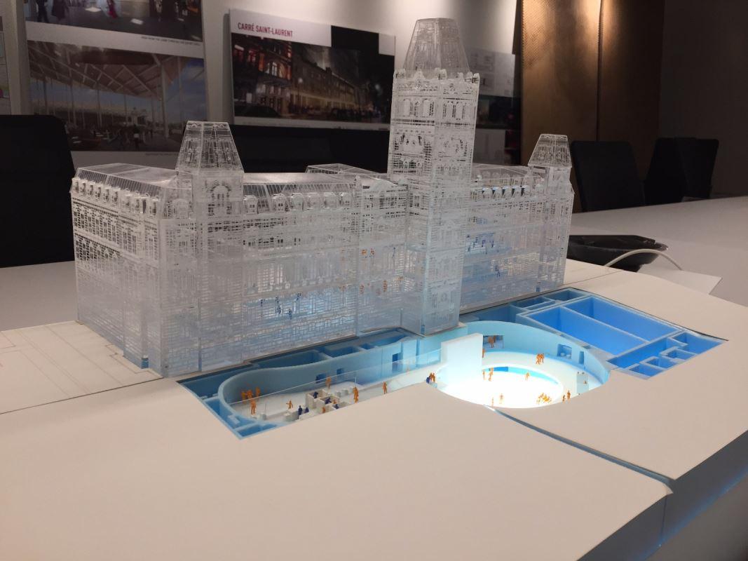 Maquette du futur pavillon d'accueil de l'Assemblée nationale du Québec