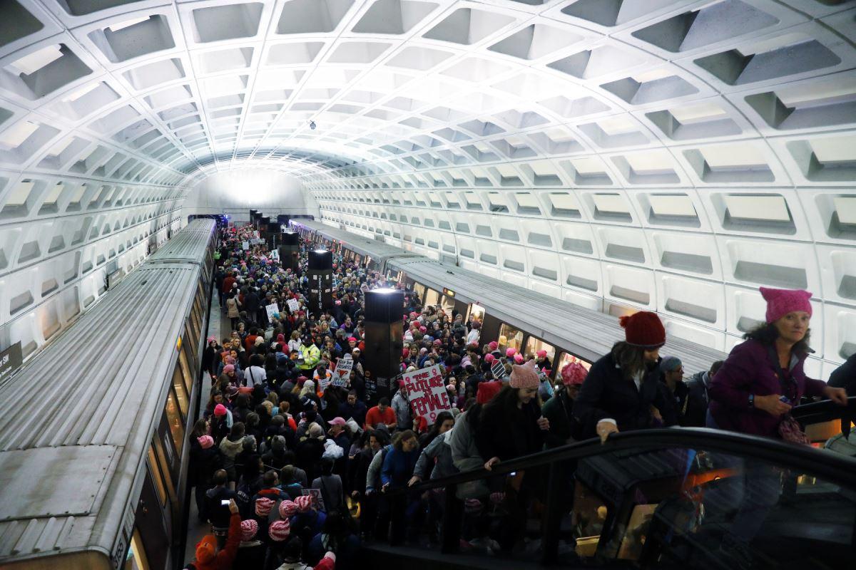 Plus de 275 000 personnes ont utilisé le métro à Washington samedi pour se rendre à la manifestation.