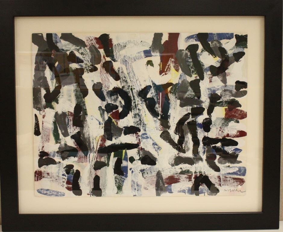 Un des tableaux de Jean-Paul Riopelle retrouvés à Montréal