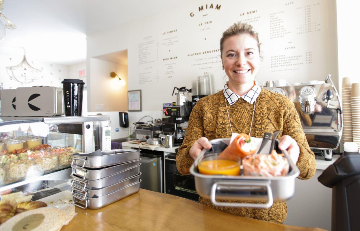 La propriétaire du café C MIAM Chantale Bouliane.