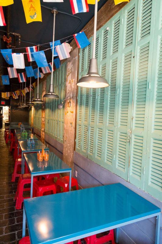 Le décor d'un restaurant