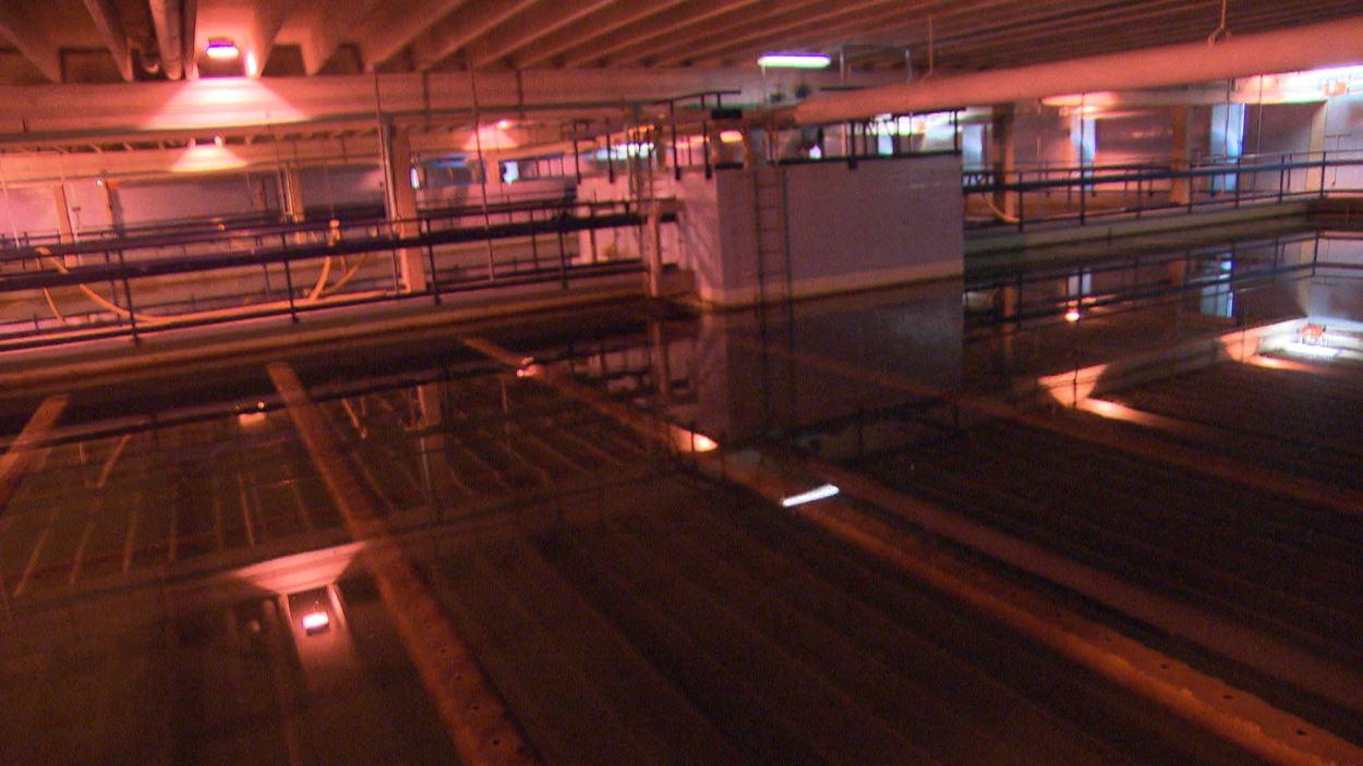 Des « piscines » à l'intérieur de l'usine