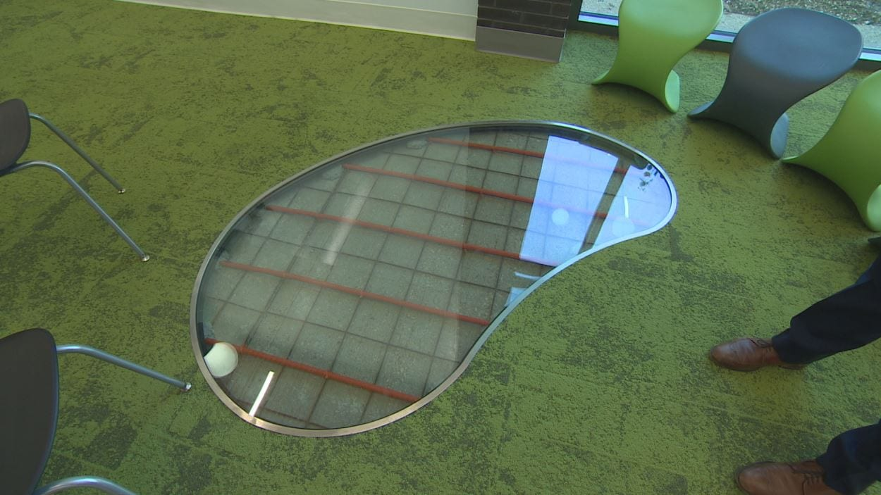 Un aperçu du système de chauffage sur le sol de l'école
