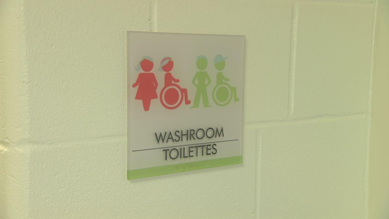 Signe de toilettes non genrées