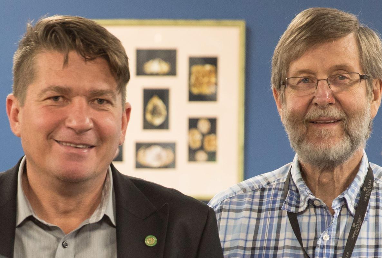 Evert (le fils) et Mike (le père) Botha
