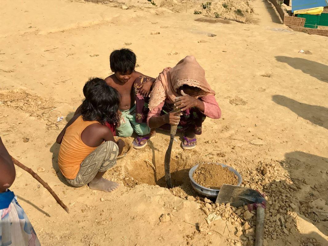 Camp de réfugiés de Rohingyas au Bangladesh