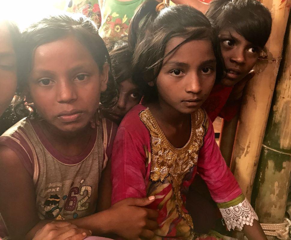Un des centres Espace Amis de l'Unicef dans le camp de réfugiés rohingyas