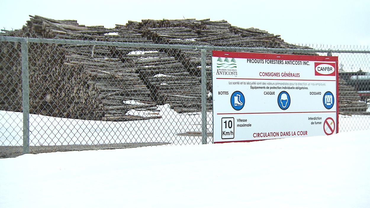 Stock de bois de Produits forestiers Anticosti
