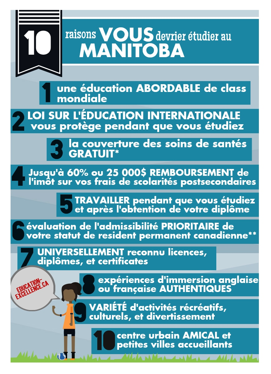 Une image promotionnelle du gouvernement du Manitoba, destinée aux étudiants internationaux. Photo : ©GOUVERNEMENT DU MANITOBA