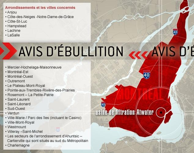Arrondissements et les villes concernés